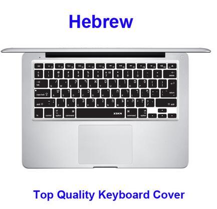 XSKN Hebrew Keyboard Cover for Macbook Pro 13-A1708 no Touchbar//Macbook 12-A1534