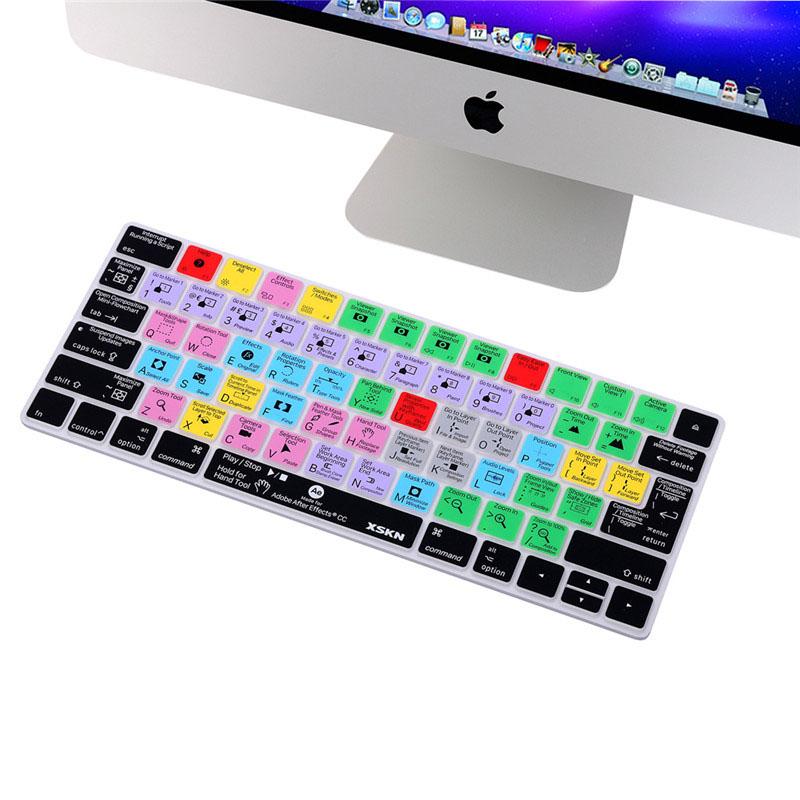 XSKN Adobe Lightroom Shortcuts Keyboard Skin Hot Keys LR Keyboard Cover for Macb
